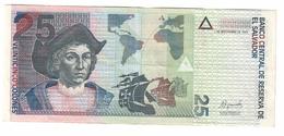 El Salvador 25 Colones 1999 - El Salvador