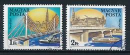 Ungarn 1985 Mi. 3733 A + 3735 A Gest. Brücken Donau Novi Sad + Budapest - Brücken