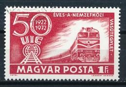 Ungarn 1972 Mi. 2803 A Gest. Eisenbahnverband Lokomotive Eisenbahn - Brücken