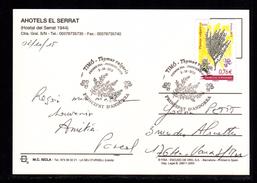 ANDORRE ANDORRA Seul Sur CP D'El Serrat THYM Au Tarif En 1er Jour 2-10-2015 SUPERBE 2 Scan