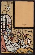 "JUDAÏCA : IN THE ""CHEDER"" - ILLUSTRATION : M. GUR-ARNEH / BEZALEL / JERUSALEM - HADAR EDITION ~ 1920 - RARE ! (w-290) - Judaisme"