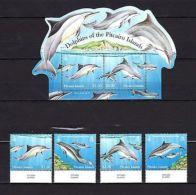 Pitcairn Island 2010 Marine Life Dolphins MNH Mi.851-54 Bl.60 - Marine Life