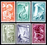 Grecia-F0219 - 1951 - Yvert & Tellier N. 575-580 (+) LH - Senza Difetti Occulti. - Grecia