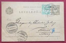 UNGHERIA HUNGRYCARTOLINA POSTALE 5+5 F. DA BUDAPEST A ZURIGO IN DATA 18/2/1920