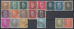 DEUTSCHES REICH 410-422, 435-437, 454, 465-466, Reichspräsidenten, Gestempelt Oo  Katalogwert: über 43 € (304K)
