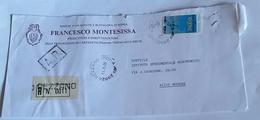 ITALIA 11/5/89  - (234) RACCOMANDATA CON ALTO VALORE CAMPIONATI DEL MONDO DI VELA   USO ISOLATO - 1981-90: Storia Postale