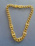 Collier Ancien En Or Plaqué  - Longueur 22cm - Collares/Cadenas