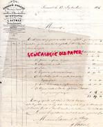 49-  SAUMUR - FACTURE  HONORE COLLIN- 1844- AGENT DE CHANGE - SUCCESSEUR DE M. CHASTEAU - Bank & Insurance
