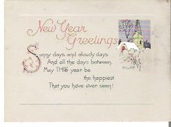 New Year Greetings - Old Paper