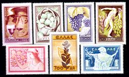 Grecia-F0221 - 1953 - Yvert & Tellier N. 585-591 (+) Hinged - Senza Difetti Occulti. - Grecia