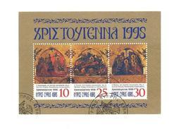 CYPRUS 1998 CHRISTMAS MINI SHEET CANCELED
