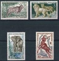 AFRIQUE EQUATORIALE FRANçAISE Faune, Elephant, Lion,  Koudou, Elan, Yvert N°238/41  ** (MNH)