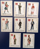 MANAMA Costumes Militaires.Military Costumes. Serie Complete, ** MNH
