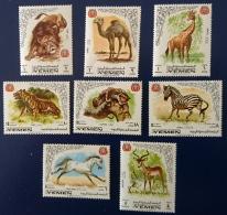 YEMEN Royaume Lion, Leopard, Tigres, Cheval, Zebre, Girafe, Camel. MICHEL N° 772/79  ** MNH