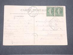 """BELGIQUE - Cachet """" Péruwelz Caisse """" Sur Carte Postale De France En 1919 - L 8049 - België"""