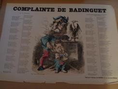 La Complainte De Badinguet. - Journaux - Quotidiens