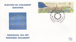 Belgium FDC 1989 Election To The European Parlement (T18-3)