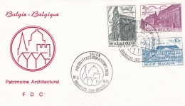 Belgium FDC 1975 Patrimoine Architectural  (T18-3)
