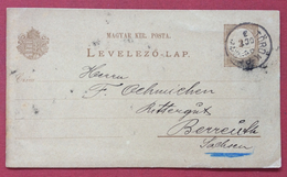 UNGHERIA HUNGRY CARTOLINA POSTALE MAGYAE KIR.POSTA 2 Kr DA  TÖRÖK - BECSE In DATA 3/10/1892