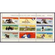 ESPAGNE SPANIEN SPAIN ESPAÑA 2002 HORSES GAMES JEREZ M/S ED 3898-04 YV 3463-69 MI B-3742-50 SG MS3868A SC SH-3167 - Blocks & Sheetlets & Panes