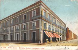 CPA CUBA HOTEL UNION EL HOTEL UNION CIENFUEGOS CUBA(dos Non Divisé) - Cartes Postales