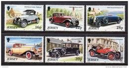 GB JERSEY - 1992 VINTAGE CARS SET (6V) SG 591-596 FINE MNH **