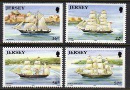 GB JERSEY - 1992 SHIPBUILDING SET (4V) SG 579-582 FINE MNH **