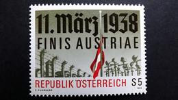 Österreich 1914 **/mnh, 50. Jahrestag Des Anschlusses Österreichs An Das Deutsche Reich