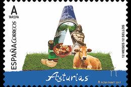 Spanje / Spain - Postfris / MNH - 12 Maanden, 12 Postzegels Asturias 2017