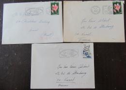 3 Enveloppes Andorre Français 1979 Avec Timbres YT N°247x2/281