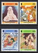 GB JERSEY - 1992 BATIK DESIGNS SET (4V) SG 587-590 FINE MNH **