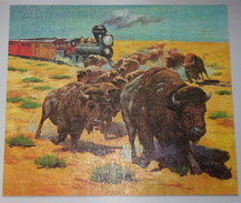 """Puzzle Vintage - 1973 - Serie Western """"Les Bisons"""" - 200 Pieces - Mb - Puzzle Games"""