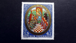 Österreich 1957 **/mnh, Hl. Adalbero, Hl. Kilian U. Hl. Benedikt Vor Muttergottes; Miniatur A. Rotelbuch Stift Lambach