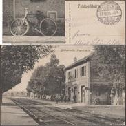 Allemagne 1915. Carte De Franchise Militaire. Gare De Bétheniville, Marne. Vélo, Wagons De Marchandises - Vélo