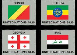 Verenigde Naties / United Nations - Postfris / MNH - Complete Set Vlaggen 2017 - Gezamelijke Uitgaven New York/Genève/Wenen