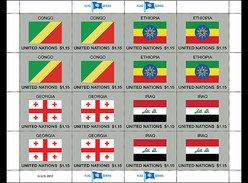 Verenigde Naties / United Nations - Postfris / MNH - Sheet Vlaggen 2017 - Gezamelijke Uitgaven New York/Genève/Wenen