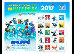 Verenigde Naties (New York) / United Nations - Postfris / MNH - Sheet Dag Van Het Geluk, De Smurfen 2017 - Nuovi