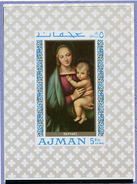 (B 16) Ajman ** Michel Bloc 66 - Tableaux De Madone - - Ajman