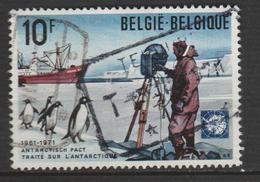 """BELGIQUE ,N°1589 """" TRAITÉ SUR L'ANTARTIQUE  MANCHOTS ET NAVIRE  ERIKA-DAN"""""""