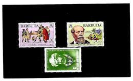 EDY 26 - BARBUDA , Tre Valori  Nuovi  ***  MNH - Antigua E Barbuda (1981-...)