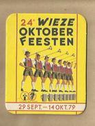 """-** 24 °WIEZE  OKTOBER  FEESTEN **-   """""""" 29 Sept. - 14 Okt.'79  """"""""  - - Sous-bocks"""