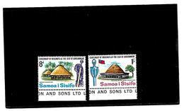 EDY 28 - SAMOA SISIFO , Due Valori  Nuovi  ***  MNH  . Linguella Sul Bordo - Samoa