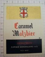 ETIQUETTE CARAMEL MALZBIER  BRASSERIE D' EUPEN - 1 - Bière