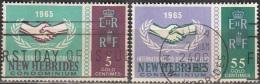 Nouvelles Hebrides 1965 Michel 220 - 221 O Cote (2005) 3.20 Euro 20 Ans De Cooperation Cachet Rond - Légende Anglaise