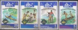 Nouvelles Hebrides 1975 Michel 411 - 414 O Cote (2005) 12.00 Euro Scoutisme Jamboree Cachet Rond - Légende Française
