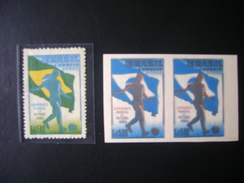 WORLD CUP OF FOOTBALL IN BRAZIL 1950 - A-76 IN PAIR TESTS COLOR BLUE AND BROWN