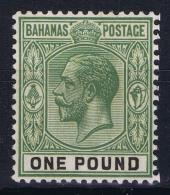 Bahamas: SG 125 Mi Nr 87 MH/* Falz/ Charniere  1926  VLH - Bahamas (...-1973)