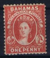 Bahamas: SG 21 Carmin Lake Wmk CC  Perfo 12,5   MH/* Falz/ Charniere - Bahamas (...-1973)