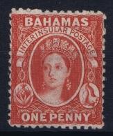 Bahamas: SG 23 Rose Red Wmk CC  Perfo 12,5   Not Used (*) SG - Bahamas (...-1973)