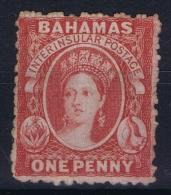 Bahamas: SG 24 Red Wmk CC  Perfo 12,5   Not Used (*) SG - Bahamas (...-1973)
